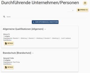 Durchführende Unternehmen/Personen in DutySimple