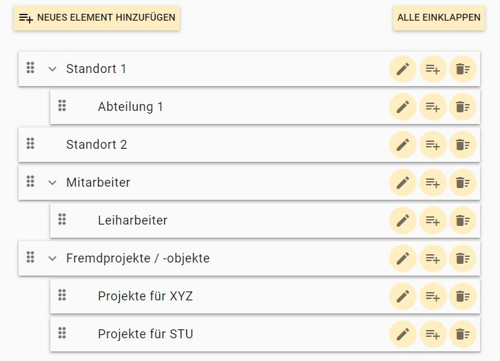 DutySimple Hilfe: Organigramm
